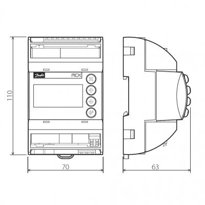 Danfoss MCX06D dimensions